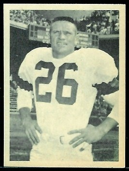 Ray Renfro 1961 Fleer Wallet Pictures football card