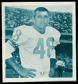 Les Richter 1961 Fleer Wallet Pictures football card