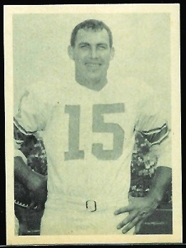 Frank Ryan 1961 Fleer Wallet Pictures football card