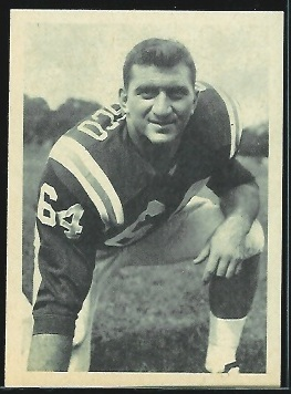 Tony Sardisco 1961 Fleer Wallet Pictures football card