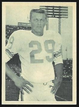 Del Shofner 1961 Fleer Wallet Pictures football card