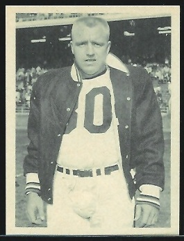 Tom Tracy 1961 Fleer Wallet Pictures football card