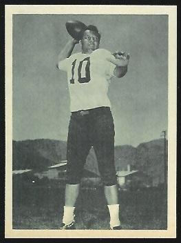 Frank Tripucka 1961 Fleer Wallet Pictures football card