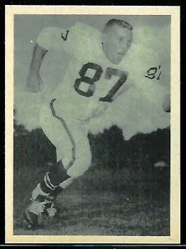 Mel Branch 1961 Fleer Wallet Pictures football card