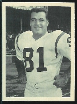 Joe Walton 1961 Fleer Wallet Pictures football card