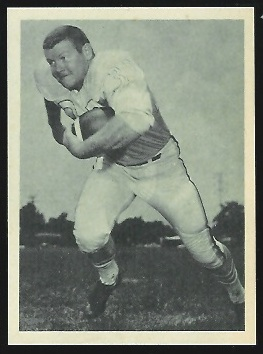 Bob White 1961 Fleer Wallet Pictures football card