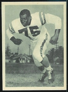 Ernie Wright 1961 Fleer Wallet Pictures football card