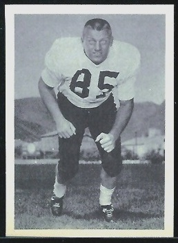 Joe Young 1961 Fleer Wallet Pictures football card