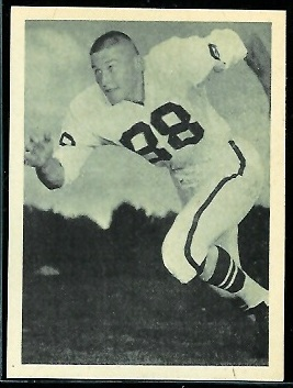 Chris Burford 1961 Fleer Wallet Pictures football card