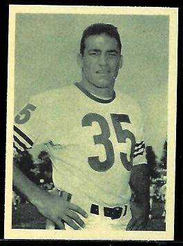 Rick Casares 1961 Fleer Wallet Pictures football card