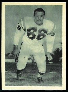 Fred Cole 1961 Fleer Wallet Pictures football card