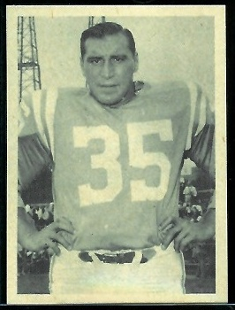 Alan Ameche 1961 Fleer Wallet Pictures football card