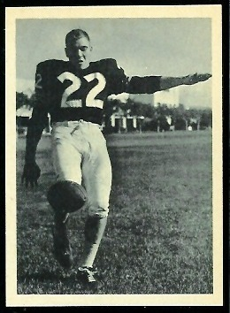 Wayne Crow 1961 Fleer Wallet Pictures football card