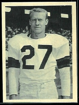 Dean Derby 1961 Fleer Wallet Pictures football card
