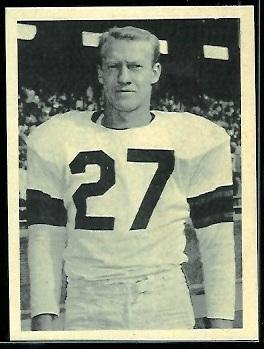 Dean Derby 1961 Fleer Wallet Pictures football card