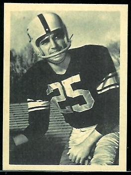 Randy Duncan 1961 Fleer Wallet Pictures football card