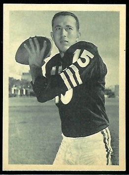 Tom Flores 1961 Fleer Wallet Pictures football card