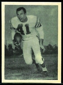 Charlie Flowers 1961 Fleer Wallet Pictures football card
