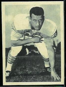 Bill Groman 1961 Fleer Wallet Pictures football card