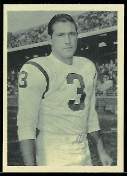Ralph Guglielmi 1961 Fleer Wallet Pictures football card