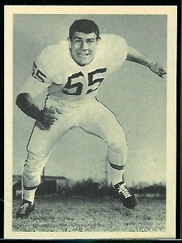 E.J. Holub 1961 Fleer Wallet Pictures football card