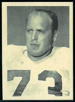 Gordy Holz 1961 Fleer Wallet Pictures football card