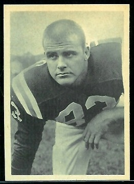 Harry Jacobs 1961 Fleer Wallet Pictures football card