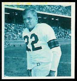 Bobby Layne 1961 Fleer Wallet Pictures football card