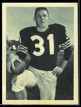 Billy Lott 1961 Fleer Wallet Pictures football card