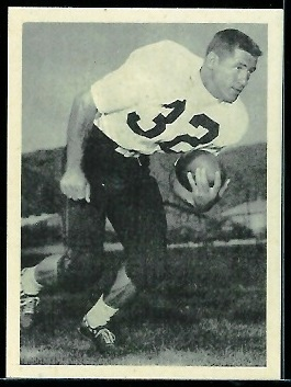 Bob McNamara 1961 Fleer Wallet Pictures football card