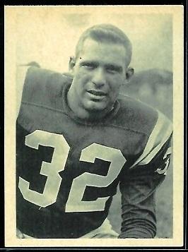Alan Miller 1961 Fleer Wallet Pictures football card