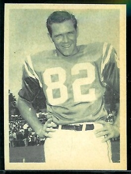 Raymond Berry 1961 Fleer Wallet Pictures football card
