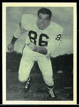 Paul Miller 1961 Fleer Wallet Pictures football card