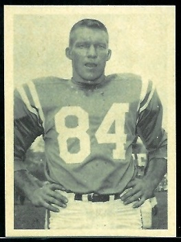 Jim Mutscheller 1961 Fleer Wallet Pictures football card
