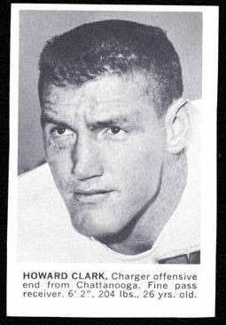 Howard Clark 1961 Golden Tulip Chargers football card