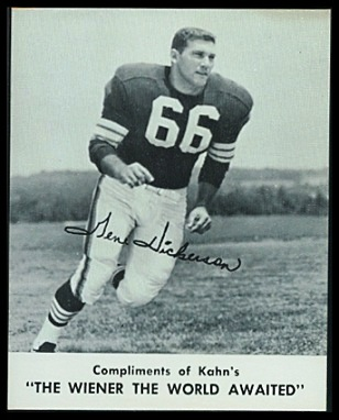 Gene Hickerson 1961 Kahns football card