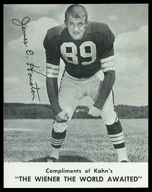 Jim Houston 1961 Kahns football card