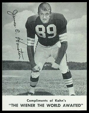 Jim Houston 1961 Kahns football card