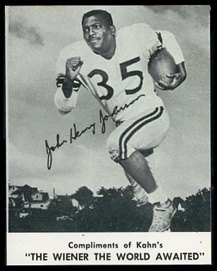 John Henry Johnson 1961 Kahns football card