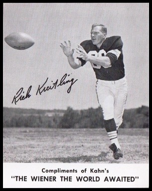 Rich Kreitling 1961 Kahns football card