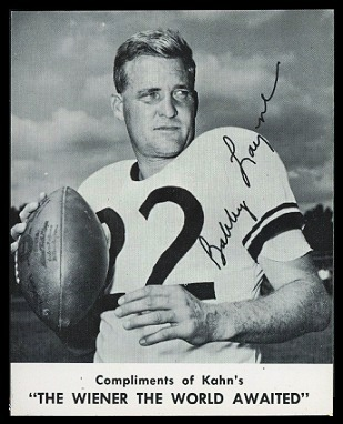 Bobby Layne 1961 Kahns football card