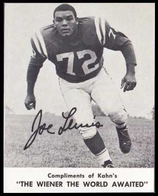 Joe Lewis 1961 Kahns football card
