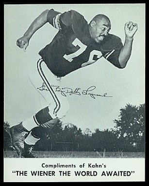 Gene Lipscomb 1961 Kahns football card