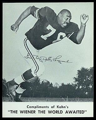 Gene Lipscomb 1961 Kahns football card
