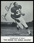 1961 Kahns Jim Brown
