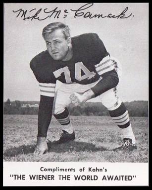 Mike McCormack 1961 Kahns football card
