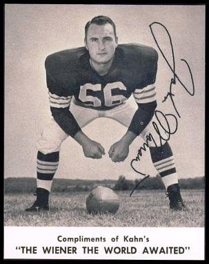 John Morrow 1961 Kahns football card