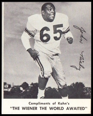 John Nisby 1961 Kahns football card