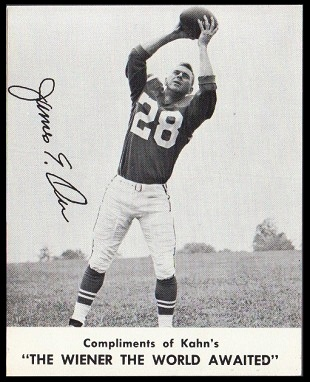 Jimmy Orr 1961 Kahns football card