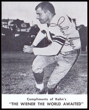 John Reger 1961 Kahns football card